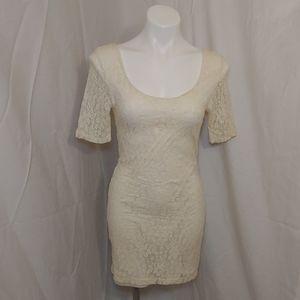 🎁Volcom Stone Lace Dress Ivory sz M